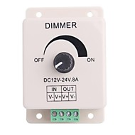 billige Lampesokler og kontakter-Led Knob-Operated Kontroll Dimmer Justerbar lysstyrke Controller for LED lys (DC12-24V 8A)