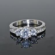 Mulheres Diamante sintético Luxo Amor Casamento Aço Inoxidável Zircão Zircônia Cubica Redonda Formato Coroa Jóias Casamento Festa Diário