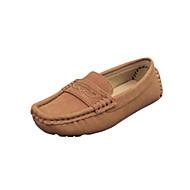 baratos Sapatos de Menina-Para Meninas Sapatos Courino Primavera / Outono Conforto Sapatos de Barco para Marrom / Azul / Verde