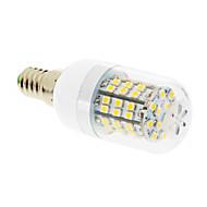 billige Spotlys med LED-550-680lm E14 LED-kornpærer T 60 LED perler SMD 2835 Varm hvit 220-240V / #