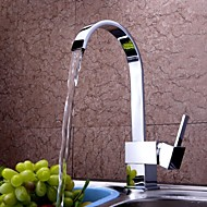 cheap Kitchen Faucets-Kitchen faucet - Contemporary Chrome Tall / ­High Arc Deck Mounted