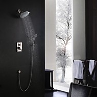 cheap Nickel Brushed Series-Shower Faucet - Contemporary Nickel Brushed Wall Mounted Ceramic Valve