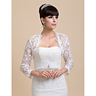 Lace Wedding / Party Evening Wedding  Wraps With Coats / Jackets