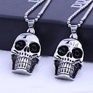 , Személyre szabott ajándékot Skull alakzatok rozsdamentes acél ékszer gravírozott Medál nyaklánc 60cm lánc
