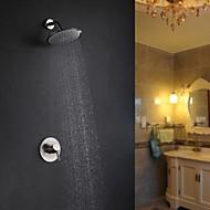 お買い得  ブラッシュドニッケル Series-シャワー水栓 - コンテンポラリー ブラッシュドニッケル シャワーのみ セラミックバルブ / 真鍮 / シングルハンドル二つの穴