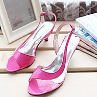 baratos Sapatos Femininos-Mulheres Sapatos Courino Primavera / Verão Salto Agulha Combinação Azul / Rosa claro / Coral