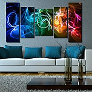 Colorful Abstract Clock in Canvas 5pcs