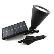 4-LED屋外の太陽光発電は、景観スポットライトガーデン芝生フラッドランプスポットライト
