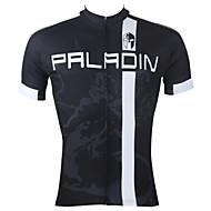 ILPALADINO Bărbați Manșon scurt Jerseu Cycling Dungi Bicicletă Jerseu Topuri Respirabil Uscare rapidă Rezistent la Ultraviolete Sport 100% Poliester Ciclism montan Ciclism stradal Îmbrăcăminte