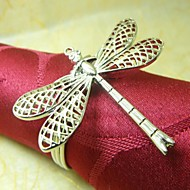 Dragonfly Guardanapo Ring, Metal, 4cm, conjunto de 12,