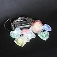 10-LED 1.5M Bateria Cor Produzido Mudando de corda de Luzes para casamento festa de Natal