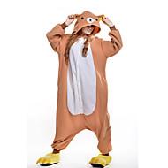 Adulți Pijama Kigurumi Urs Animal Pijama Întreagă Lână polară Portocaliu Cosplay Pentru Bărbați și femei Sleepwear Pentru Animale Desen animat Festival / Sărbătoare Costume
