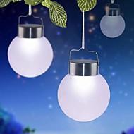 Agățat în aer liber solar lumini LED-uri albe-o minge de plastic pentru decor