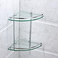 cheap Bathroom Hardware-Bathroom Shelf Contemporary Stainless Steel / Glass 1 pc - Hotel bath