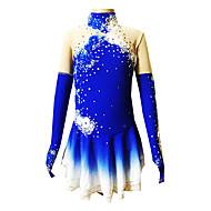 Haljina za klizanje Žene Djevojčice Korcsolyázás Haljine Plava Spandex Štras Aplikacije Seksi blagdanski kostimi Odjeća za klizanje Ručno