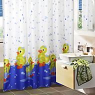 Χαριτωμένο σκίτσο Μπανιέρα Πάπια Κουρτίνα μπάνιου
