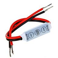 billige Lampesokler og kontakter-mini dimmer controller tre taster for 5050 3528 én farge ledet stripe lys (12v 6a)