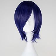 Cosplay Parykker Tokyo Ghoul Kirishima Touka Blå Kort Anime Cosplay Parykker 32 CM Varmeresistent Fiber Kvindelig