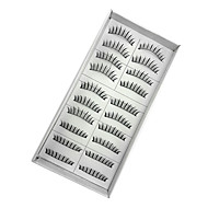 10 Eyelashes lash Eyelash Volumized Handmade Fiber