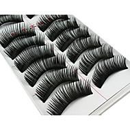 10 Pairs Fabulous Thick Black Chemical Fiber False Eyelashes