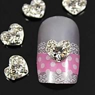 10st 3d strass hart vingertoppen sieraden accessoires nail art decoratie