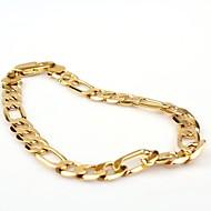 Herre Figaro kæde Kæde & Lænkearmbånd - Guldbelagt Klassisk, Mode Armbånd Gylden Til Fest / Daglig / Afslappet