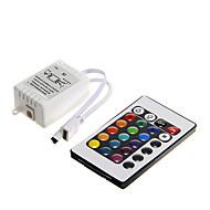 z®zdm 6a 72waty ir 24 kláves RGB LED dálkový ovladač pro RGB LED strip (DC12V)