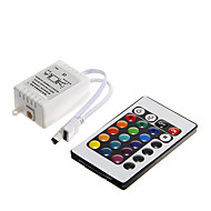 billige Lysbrytere-z®zdm 6a 72w ir 24-knapps rgb led fjernkontroll for rgb ledet lys stripe (dc12v)