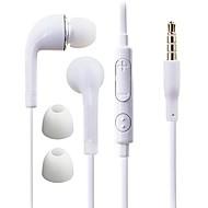 df hvid blå plade 3,5 mm in-ear øretelefon med line kontrol til Samsung S4 / S5 alle Andriod telefoner