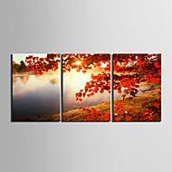 Недорогие -Классика Реализм, 3 панели Горизонтальная С картинкой Декор стены Украшение дома