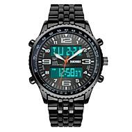 SKMEI Erkek Asker Saat Moda Saat Bilek Saati Dijital saat Quartz Dijital Japon Kuvartz LCD Takvim Kronograf Su Resisdansı Çift Zaman