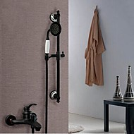 cheap Oil-rubbed Bronze Series-Contemporary Tub And Shower Ceramic Valve Single Handle Four Holes Oil-rubbed Bronze, Shower Faucet