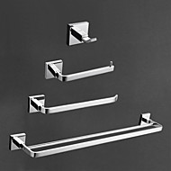 cheap Chrome series-Bathroom Accessory Set Contemporary Wall Mounted Brass