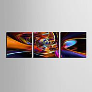 Недорогие -Отпечатки на холсте Наборы холстов Абстракция 3 панели Горизонтальная С картинкой Декор стены Украшение дома