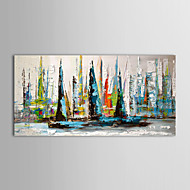 cheap -Oil Painting Hand Painted - Landscape Modern / Traditional Canvas