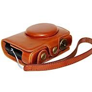 billige Etuier, vesker og stropper-dengpin® lær beskyttende kameraveske bag deksel lading stil med håndreim for Leica c og panasonic LF1
