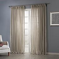 billige Forede Gardiner-To paneler Window Treatment Rustikk , Solid Soverom Polyester Materiale Gardiner Skygge Hjem Dekor For Vindu