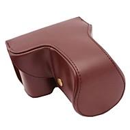olcso -pajiatu® hosszú lencse stílus pu bőrből készült védőtok Sony Alpha A6000 18-55 / 16-50mm vagy 2.8 / 16 objektívvel