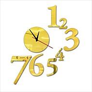 """30 """"h Nowoczesny styl nowy numer zegara akrylowe proste lustro ścienne"""