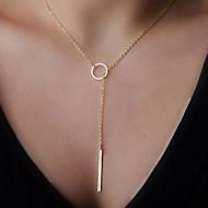 Női Nyaklánc medálok hosszú nyaklánc Y Shaped Ötvözet Alap minimalista stílusú Ékszerek Kompatibilitás Parti Születésnap Napi