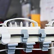 Tosidige Selvklebende Plast Wire Samler Spole (3 Størrelser 10 Stk)