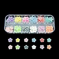 halpa -60kpl 12 väriä pieni kukka hartsi kynsikoristeet koriste