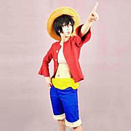 preiswerte Grosse Aktion für Spielzeug und Hobbys-Inspiriert von One Piece Monkey D. Luffy Anime Cosplay Kostüme Cosplay Kostüme Patchwork Top Gürtel Unterhose Für Mann Frau
