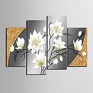 feszített vászon art szép virágok dekorációs készlet 4