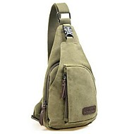Men Bags Canvas Sling Shoulder Bag for Casual All Seasons Black Gray Brown Army Green Khaki