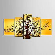 fargen på treet klokken i canvas 5pcs