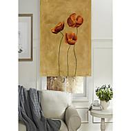 olieverfschilderij stijl levendige bloemen cluster rolgordijn