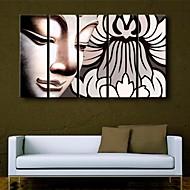 お買い得  プリント-キャンバス地プリント 宗教&精神世界 5枚 縦式 プリント 壁の装飾 ホームデコレーション