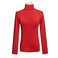 vysoký límec dlouhý rukáv zimní trička červená