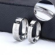 osobní dar pár prsteny z nerezové oceli ryté šperky